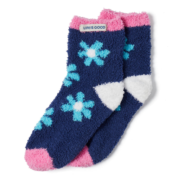 Life is GoodWomen's Snuggle Socks-Floral Pattern