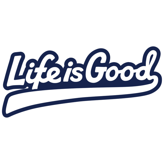 Life is Good Die Cut Sticker, LIG Ballyard Script