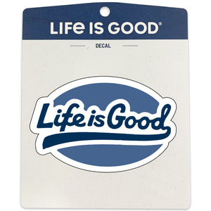 Life is Good Decal, LIG Ballyard Script