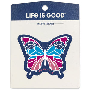 Life is Good Small Die Cut Sticker, Butterfly
