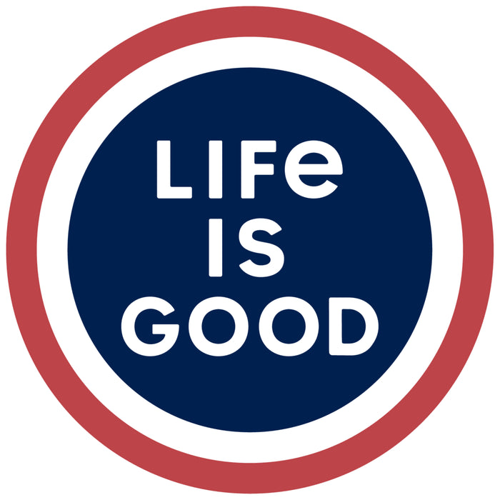 Life is Good Small Die Cut Sticker, LIG Coin