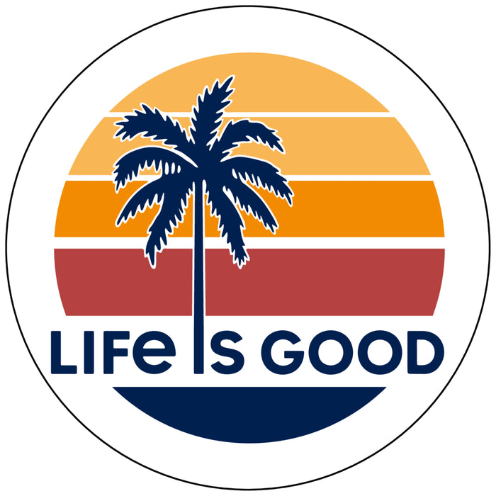 Life is Good Circle Sticker, LIG Retro Sunrise