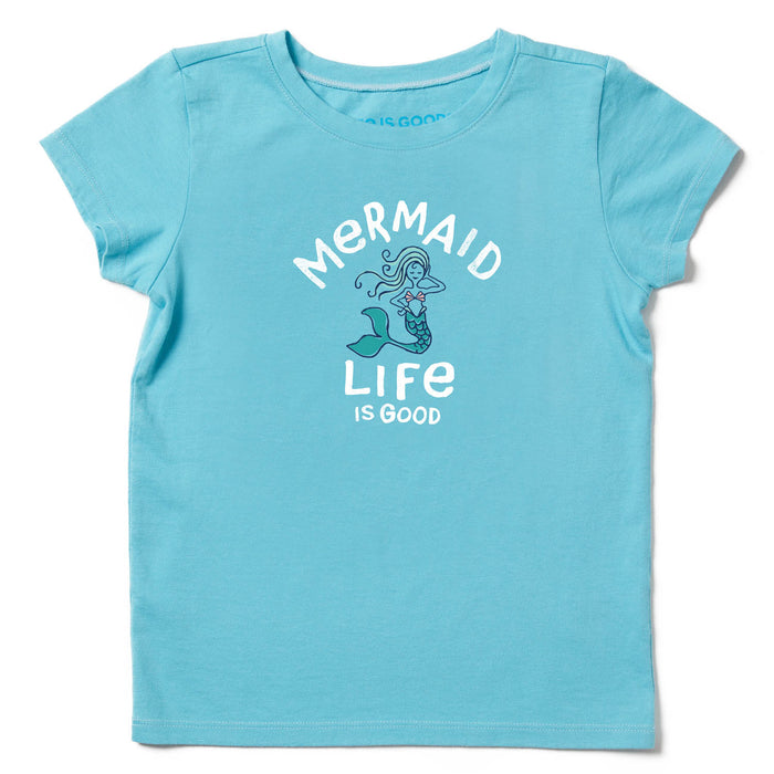 Life Is Good. Girls Crusher Tee Mermaid Life Is Good, Coastal Blue