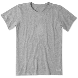 Life Is Good. Womens Solid Crusher Tee, Heather Gray