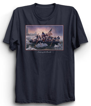 Boston Sports Group. CroSSing The Charles Novelty Tee Navy Blue
