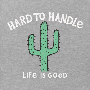 Life is Good. Toddler Crusher Tee Hard To Handle, Heather Gray