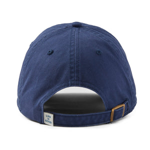 Life is Good Positive Lifestyle Turtle Sunwashed Chill Cap, Darkest Blue - One Size