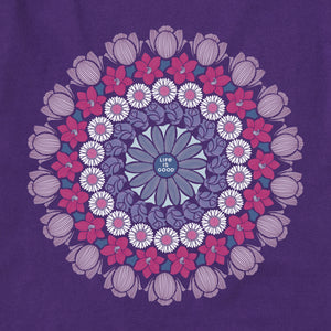 Life is Good Women's Floral Mandala Crusher Vee, Deep Purple