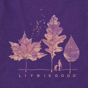 Life is Good Women's Fall Walk Crusher Vee, Deep Purple