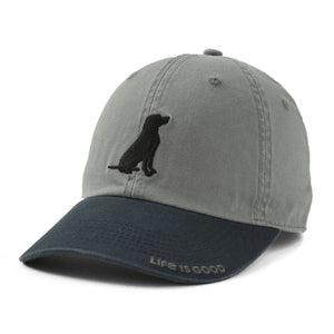 Life is Good Dog Chill Cap, Slate Gray - One Size