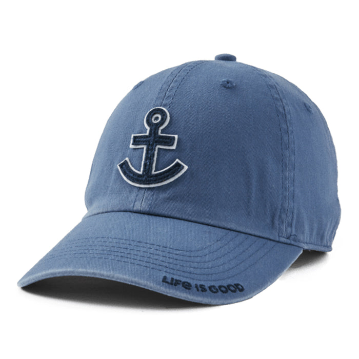 Life is Good Anchor Chill Cap, Vintage Blue - One Size