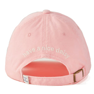 Life is Good Have A Nice Daisy Chill Cap, Light Happy Pink - One Size