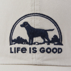 Life is Good Dog Chill Cap, Bone - One Size