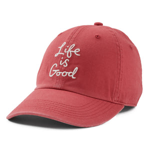 Life is Good LIG Scribble Chill Cap, Faded Red - One Size