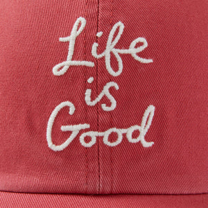 Life is Good. Chill Cap LIG Scribble, Faded Red