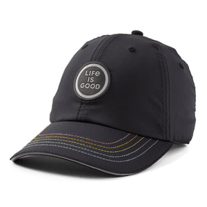 Life is Good. Active Chill Cap Rainbow LIG, Jet Black