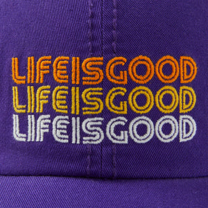 Life is Good Gradient LIG Sunwashed Chill Cap, Deep Purple - One Size