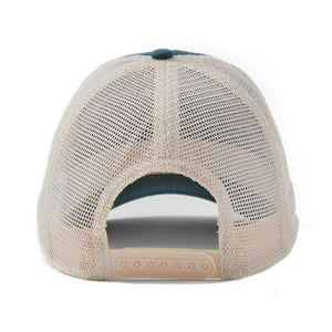 Life is Good LIG Tail Sweep Soft Mesh Back Cap, Vintage Blue - One Size