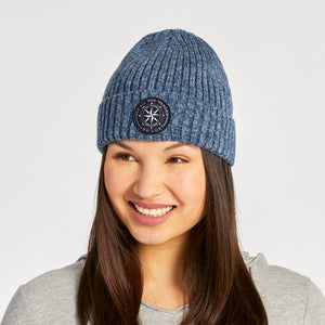 Life is Good Wander Compass Toasty Groove Beanie, Vintage Blue - One Size