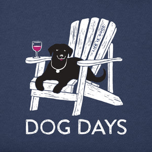 Life is Good Women's Dog Days Crusher Long Sleeve, Darkest Blue