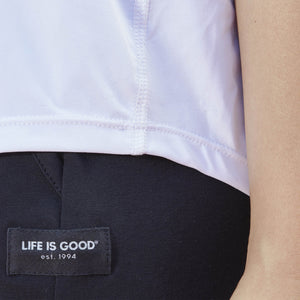 Life is Good Women's LIG Pill Active Tank, Cloud White