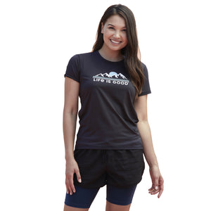 Life is Good Women's Best Things In Life Active Tee, Jet Black