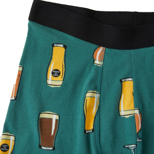 Life is Good Men's Beer Boxer Brief, Spruce Green