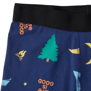 Life is Good Men's Camping Boxer Brief, Darkest Blue