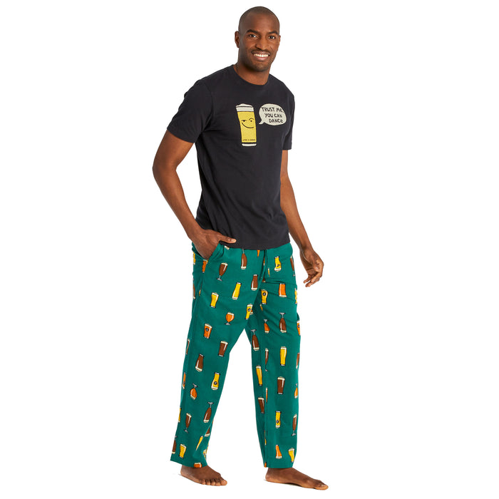 Life is Good Men's Beer Classic Sleep Pant, Spruce Green