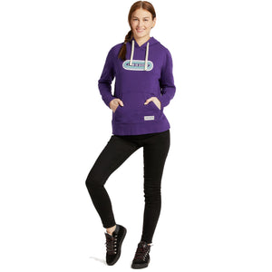 Life is Good Women's LIG Pill Simply True Hoodie, Deep Purple