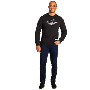 Life is Good Men's Timeless Values Simply True Crew, Jet Black