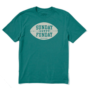 Life is Good Men's Sunday Funday Crusher Tee, Spruce Green