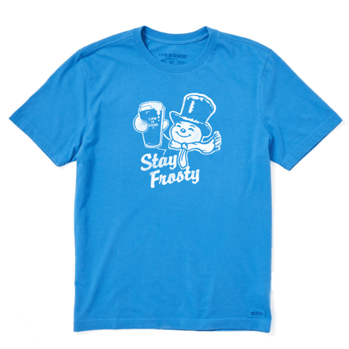 Life is Good Men's Stay Frosty Crusher Tee, Royal Blue