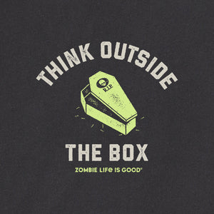 Life is Good Men's Think Outside The Box Crusher Tee, Jet Black