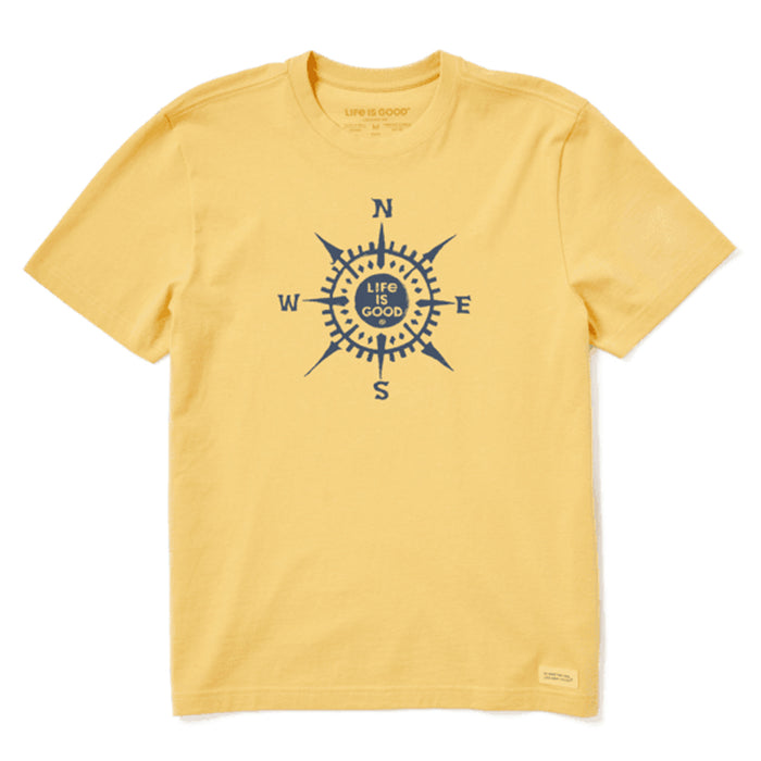 Life is Good Men's Lig Compass Crusher Tee, Baja Yellow
