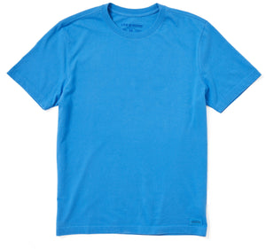 Life is Good Men's Solid Crusher Tee, Royal Blue