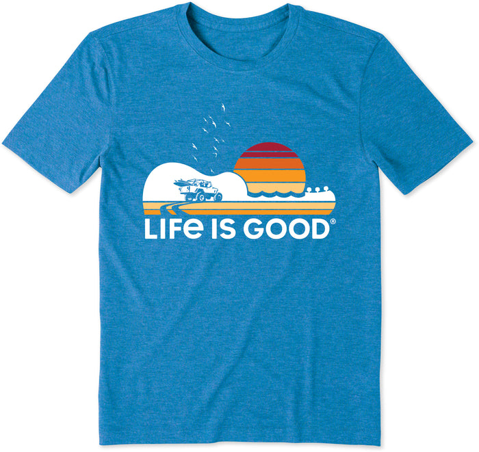 Life is Good Men's Beach Music Cool Tee, Royal Blue