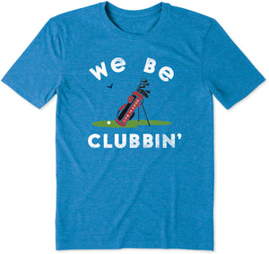 Life is Good Men's We Be Clubbin' Cool Tee, Royal Blue