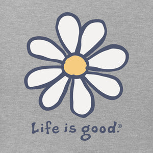 Life is Good Kids LIG Daisy Vintage Long Sleeve Crusher Tee, Heather Gray