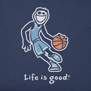 Life is Good Kids Basketball Jake Vintage Crusher Tee, Darkest Blue