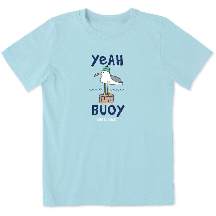 Life is Good Kids Yeah Buoy Seagull Crusher Tee, Beach Blue