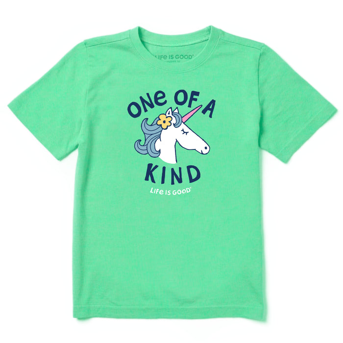 Life is Good Kids Kind Unicorn Crusher Tee, Spearmint Green