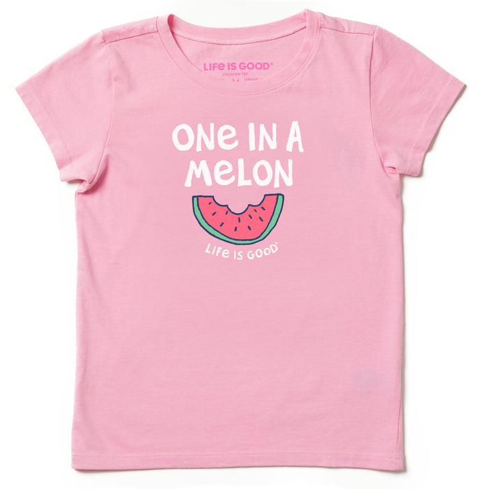Life is Good Toddler One In A Melon Crusher Tee, Happy Pink