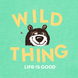 Life is Good Toddler Wild Thing Long Sleeve Crusher Tee, Spearmint Green