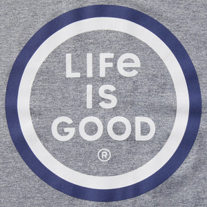 Life is Good Men's LIG Coin Active Tee, Slate Gray
