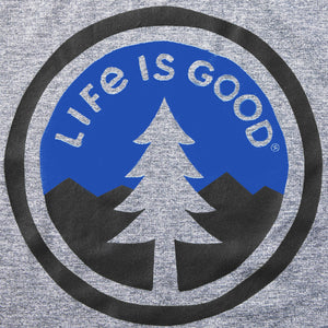 Life is Good Men's Tree Coin Active Tee, Slate Gray