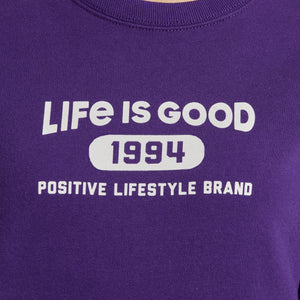 Life is Good Women's LIG Positive Lifestyle Brand Simply True Crew, Deep Purple