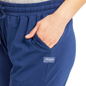 Life is Good Women's Crusher Flex Pant, Darkest Blue