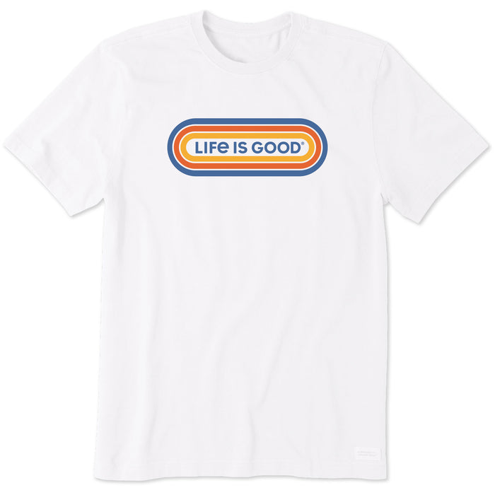 Life is Good Men's LIG Tri-Oval Crusher Tee, Cloud White