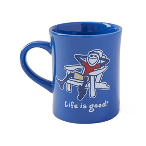 Life is Good Adirondack Jake Vintage Diner Mug, Royal Blue - One Size